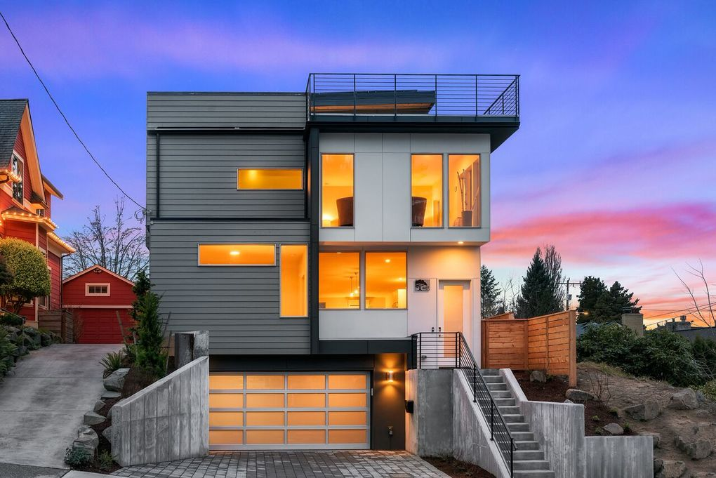 "This is Green Canopy Homes' first net-zero-energy home in Seattle: five bedrooms, 4 bathrooms, 3,643 square feet and Built Green 5-Star certification. Says the builder's senior estimator, Wilson Deaton: ""It's exciting because net zero is really the pinnacle of green building … you can build as green as you want, but until you get to a place where you're not using any nonrenewable energy in a house, then you haven't quite gotten there. If you can build a house that only relies on renewable energy, then you've completely switched the math when it comes to how much pollution you put out and how much carbon goes into the atmosphere — and that's the goal."" (Courtesy Green Canopy Homes)"