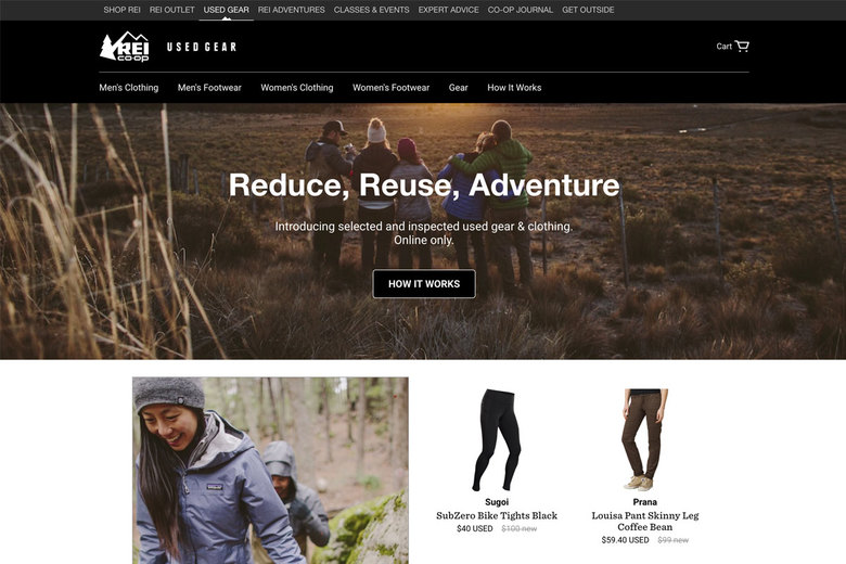 REI's revamped used-gear site puts its popular Garage Sale online.