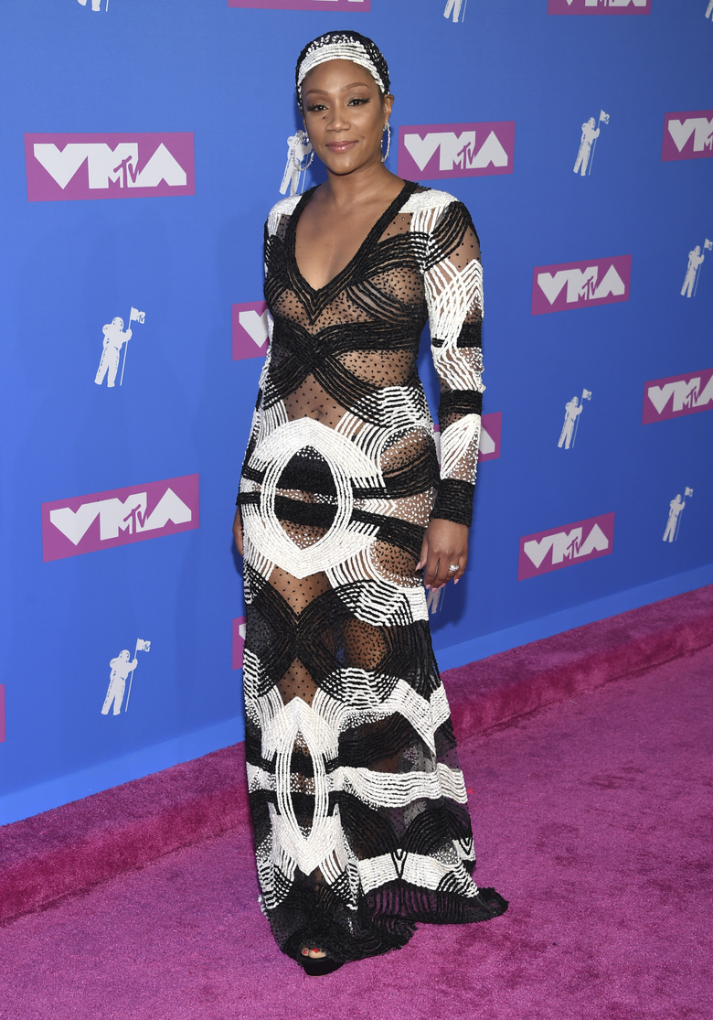 Tiffany Haddish arrives at the MTV Video Music Awards at Radio City Music Hall on Monday, Aug. 20, 2018, in New York. (Photo by Evan Agostini/Invision/AP)