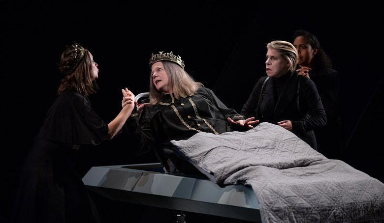 "Betsy Schwartz, Peggy Gannon, Sarah Harlett and Chantal DeGroat in Seattle Shakespeare Company and upstart crow collective's production of ""Richard III.""   (HMMM Productions)"