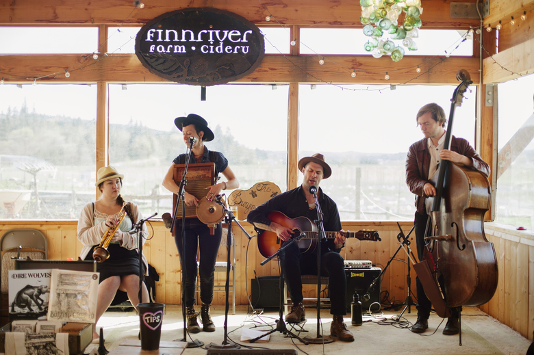 Finnriver hosts its Live Music on the Land series every Saturday evening and Sunday afternoon, year-round. (Jen Lee Chapman / Courtesy Finnriver Farm & Cidery)