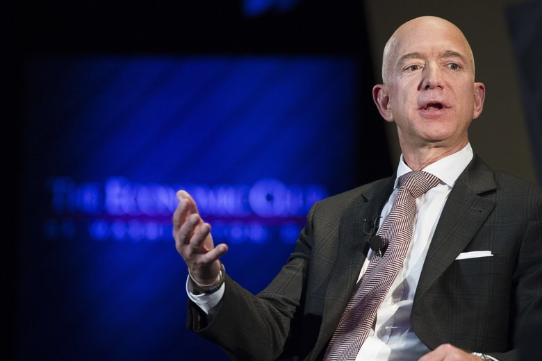 Jeff Bezos, Amazon founder and CEO, said that he is giving $2 billion to start the Bezos Day One Fund. (Cliff Owen / AP)