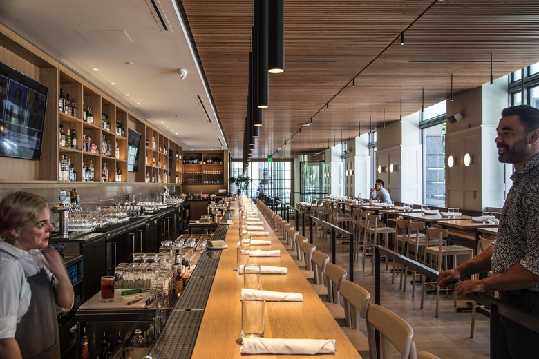 You might want to grab a spot at the 32-seat bar at Ethan Stowell's Cortina, one of our picks for best overall value during Seattle Restaurant Week. (Steve Ringman / The Seattle Times)