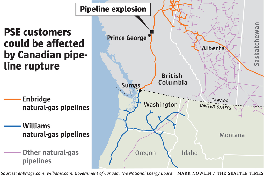 Risk of power outages in Puget Sound after Canadian pipeline