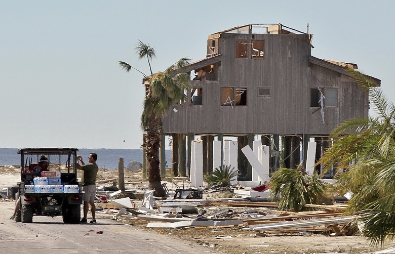 Entire blocks were destroyed in Mexico Beach, Fla., on Friday, Oct. 12, 2018, two days after a Category 4 Hurricane Michael devastated the small coastal town just outside Panama City, Fla. (Pedro Portal/Miami Herald via AP)