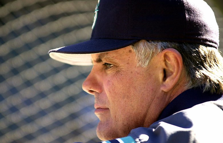 FILE –Seattle Mariners manager Lou Piniella watches his team during batting practice Sept. 24, 2000, in Seattle.  The futures of Piniella and  All-Star shortstop Alex Rodriguez, both free agents, will dominate the Mariners' planning in the next few weeks.  Piniella deferred talk of his future all year, saying he would sit down after the season with chief executive officer Howard Lincoln and general manager Pat Gillick, who both came in after the 1999 season. (AP Photo/Douglas C. Pizac, File)