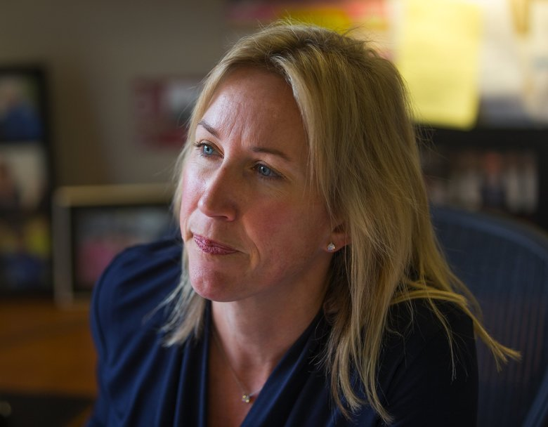 "Annika Andrews is the president and CEO of the SCCA Proton Therapy Center. One reason for the financial struggles of these centers is the cost of treatment and insurers' reluctance to pay for it. ""We spend a lot of time arguing with insurers,"" Andrews said. (Mike Siegel / The Seattle Times)"