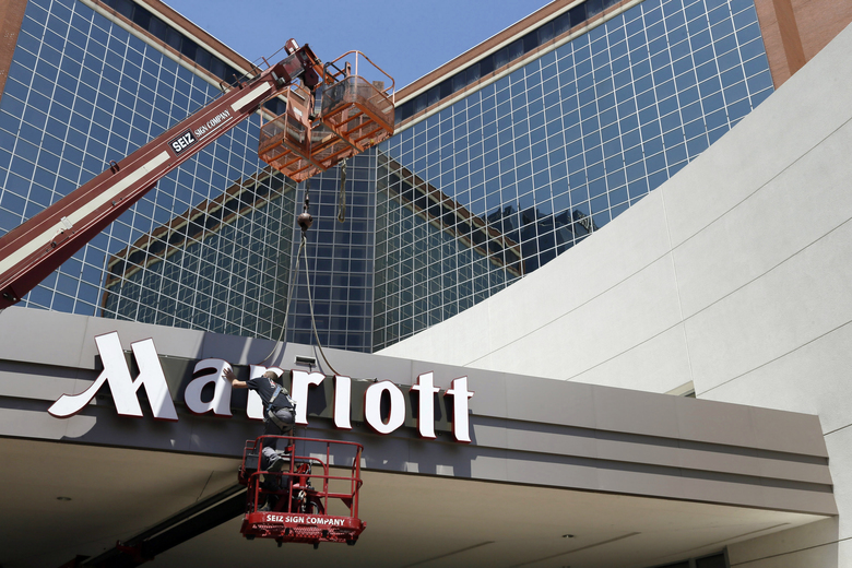 Marriott says the information of up to 500 million guests at its Starwood hotels has been compromised. (AP Photo / Danny Johnston, file)