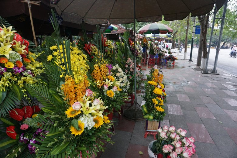 Much like Seattle, Haiphong has its fair share of flower markets. (Colleen Stinchcombe / Special to The Seattle Times)