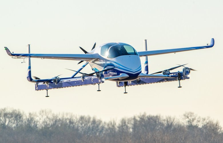 Boeing on Tuesday, Jan. 22, 2019, completed the first test flight of its autonomous passenger air vehicle prototype in Manassas, Virginia.