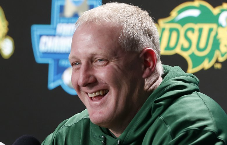 North Dakota State University head coach Chris Klieman responds to questions during a media session at the NCAA Division 1 Football Championship in Frisco, Texas on Friday afternoon, Jan. 4, 2019. Klieman will take over as head coach at Kansas State University after the game on Saturday. (Bo Rader/Wichita Eagle/TNS)  1262509 1262509