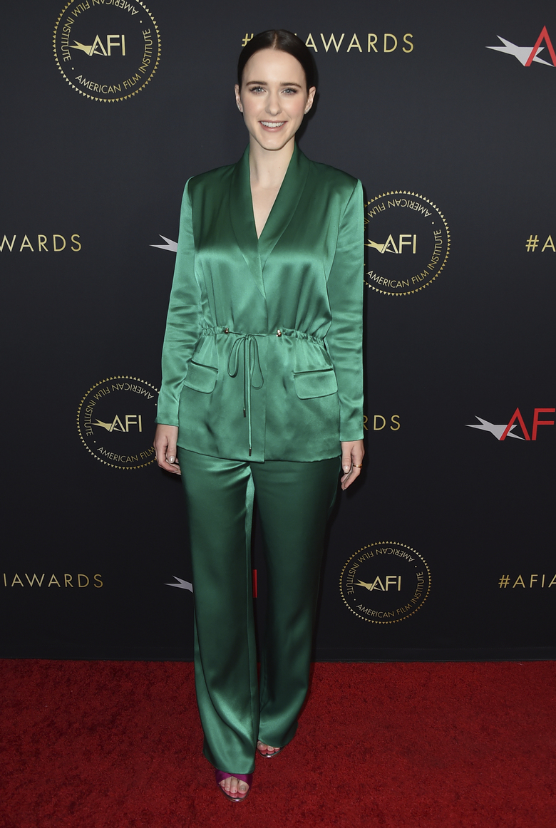 Rachel Brosnahan arrives at the 2019 AFI Awards at The Four Seasons on Friday, Jan. 4, 2019, in Los Angeles. (Photo by Jordan Strauss/Invision/AP)