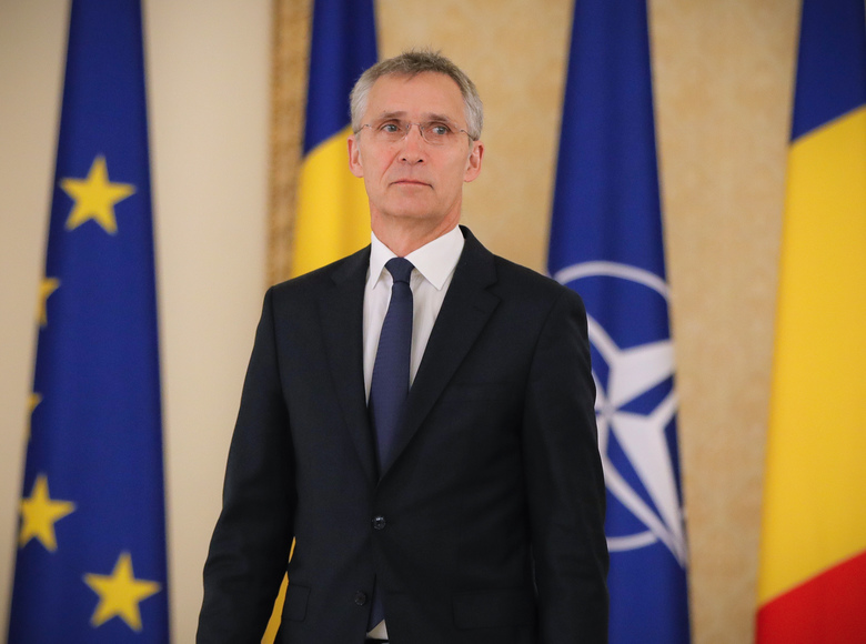 "NATO Secretary-General Jens Stoltenberg arrives for a media statement in Bucharest, Romania, Thursday, Jan. 31, 2019. NATO's chief has called on China to treat detained two Canadian citizens ""fairly and with due process."" (AP Photo/Vadim Ghirda)"