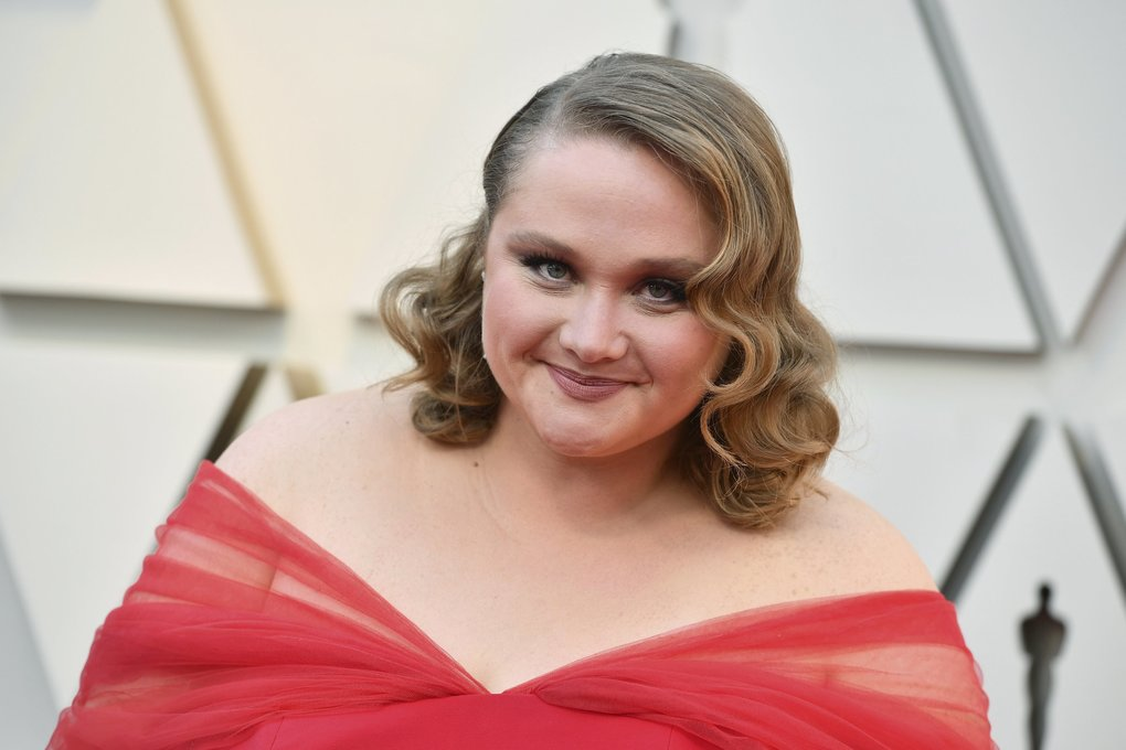 Danielle Macdonald arrives at the Oscars on Sunday  at the Dolby Theatre in Los Angeles. (Photo by Jordan Strauss/Invision/AP)