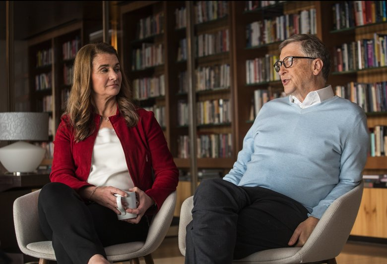 "During a recent interview at Bill and Melinda Gates' Seattle-area offices, Bill Gates warned that decreased government support could lead to some ""pretty bleak"" scenarios.  (Steve Ringman / The Seattle Times)"
