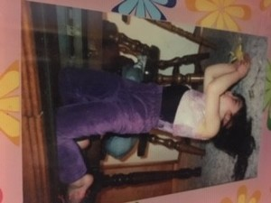 As a child, Katelyn Ohashi would do handstands under the kitchen table (photo courtesy Diana Ohashi).