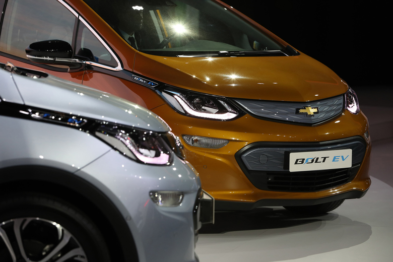 The Chevrolet Bolt electric vehicle has been a money-loser for GM since 2016. (Bloomberg photo by SeongJoon Cho).