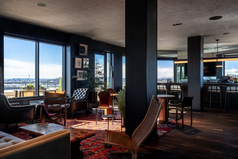The Mountaineering Club is perched on the 16th floor of The Graduate hotel in the University District. (Andrew Giammarco)