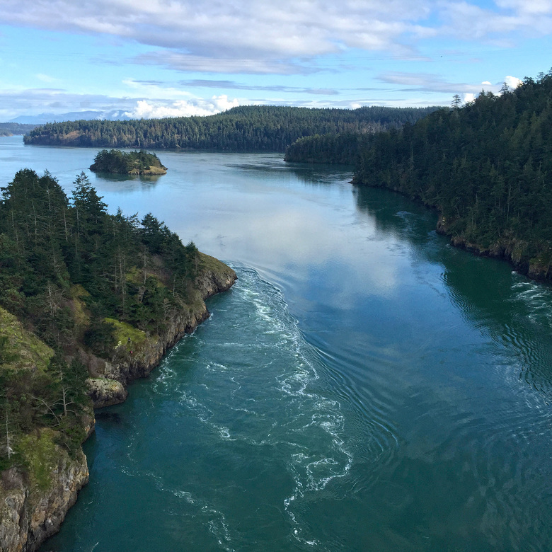 The view from Deception Pass Bridge in Deception Pass State Park, Whidbey Island. (Jonathan Elderfield / AP, File)