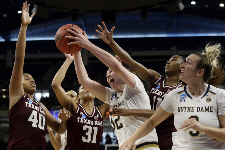 Notre Dame Women Advance To Basketball Sweet 16: Sweet Repeat: Notre Dame Women Beat Texas A&M 87-80 In