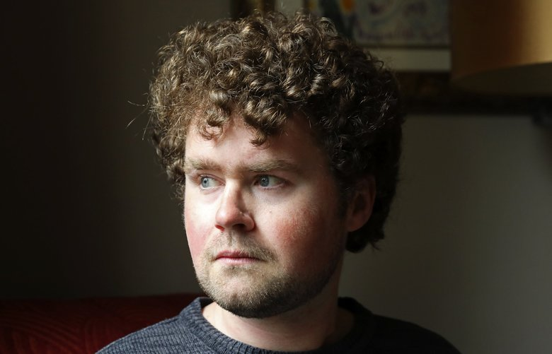 Joshua Stuller spent 13 months in solitary confinement in Chelan County's jail, where he was denied adequate mental-health treatment, according to a lawsuit he filed. Stuller is advocating for state mental-health legislation.  (Ken Lambert / The Seattle Times)