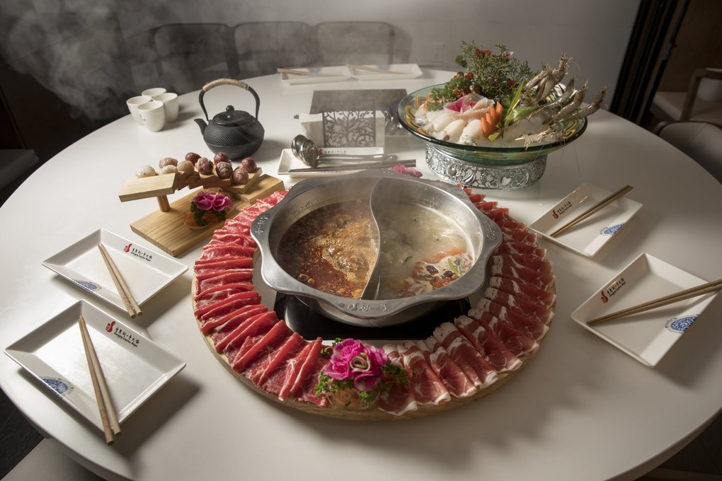 Liuyishou Hotpot in Bellevue specializes in a spicy, numbing Chongqing-style hot pot. (Bettina Hansen / The Seattle Times)