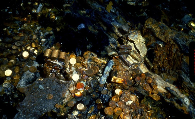 More gold coins were found at the bottom of the Atlantic during a 2014 recovery effort of the sunken treasure of the SS Central America. (California Gold Marketing Group )