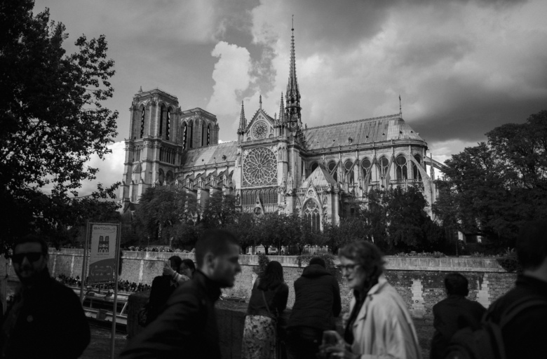 FILE — The Notre Dame Cathedral in Paris, Sept. 15, 2017. For centuries, Notre Dame has enshrined an evolving notion of French identity. As smoke and flames wafted into the sky on April 15, 2019, the symbolism for the troubled country was hard to miss. (Dmitry Kostyukov/The New York Times)