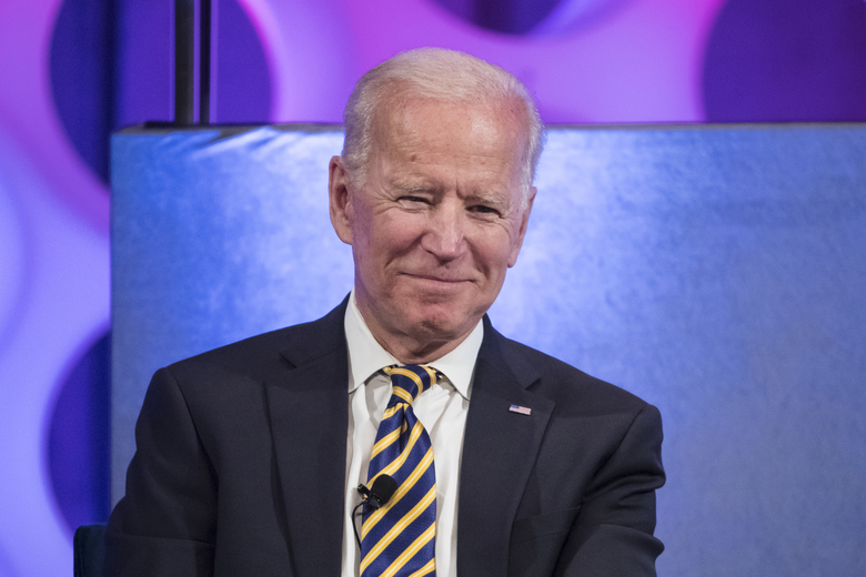 "FILE – In this April 11, 2019 file photo, former Vice President Joe Biden takes part in a forum on the opioid epidemic, at the University of Pennsylvania in Philadelphia.  Biden has formally joined the crowded Democratic presidential contest, declaring the soul of the nation at stake if President Donald Trump wins re-election. In a video posted on Twitter on Thursday, Biden focused on the 2017 deadly clash between white supremacists and counter protesters in Charlottesville, Virginia, noting Trump said there were ""very fine people"" on both sides of the violent encounter. Biden will be in Philadelphia on Thursday headlining a fundraiser.  (AP Photo/Matt Rourke)"