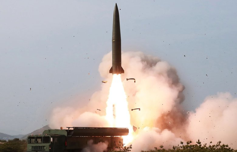 "FILE – This Saturday, May 4, 2019, file photo provided by the North Korean government shows a test of weapon systems, in North Korea. North Korea's test of what appears to be new short-range ballistic missile may not have been a direct threat to the United States, but experts warn it's almost certainly an omen of bigger problems on the horizon. Independent journalists were not given access to cover the event depicted in this image distributed by the North Korean government. The content of this image is as provided and cannot be independently verified. Korean language watermark on image as provided by source reads: ""KCNA"" which is the abbreviation for Korean Central News Agency. (Korean Central News Agency/Korea News Service via AP, File) KNS810 KNS810"