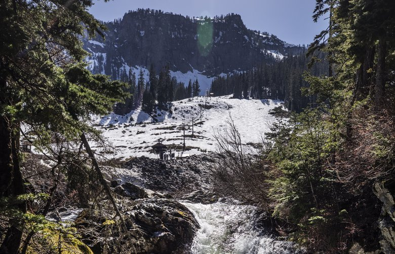 Monday, May 6, 2019.   The South Fork of the Snoqualmie starts to flow with runoff coming from the Alpental Ski area as snow melts in the early warm weather.  210157