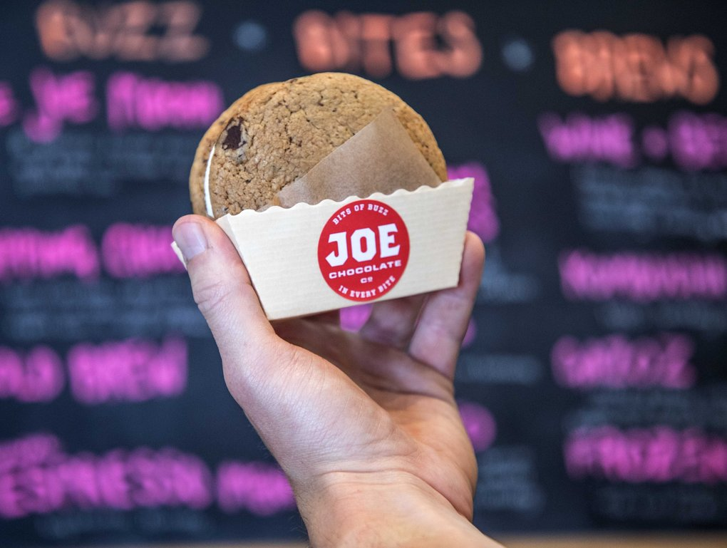 An ice-cream sandwich at Joe Chocolate Co. (Steve Ringman / The Seattle Times)