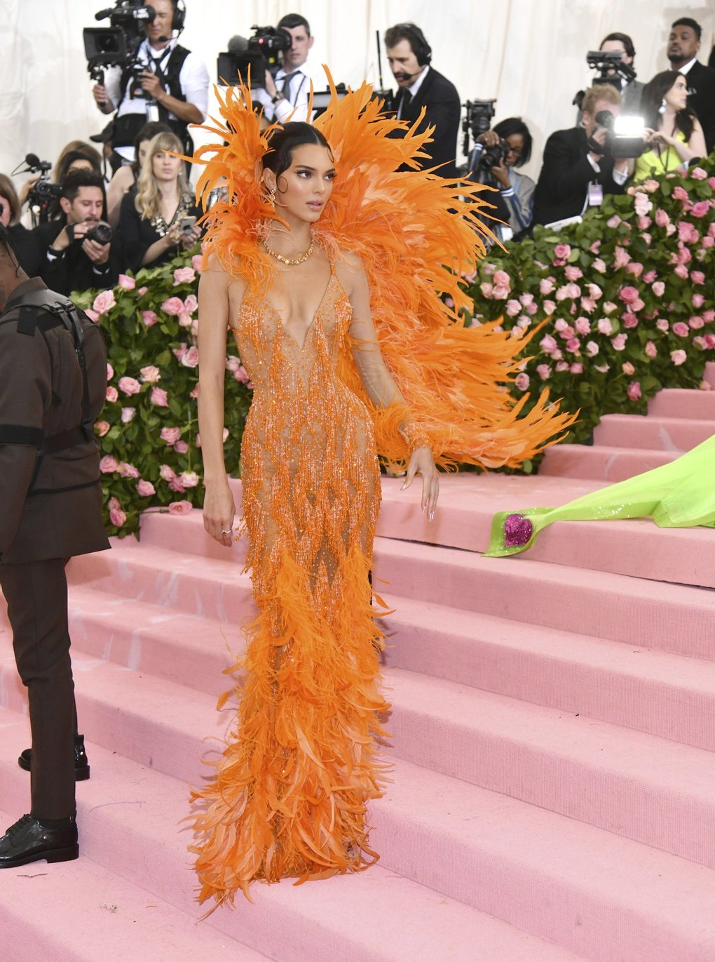 """Kendall Jenner attends The Metropolitan Museum of Art's Costume Institute benefit gala celebrating the opening of the """"Camp: Notes on Fashion"""" exhibition on Monday, May 6, 2019, in New York. (Photo by Charles Sykes/Invision/AP)"""