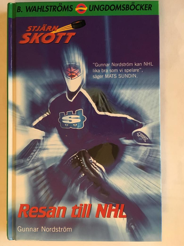 """The 2001 cover of the first book in the """"Shooting Star"""" fiction series from Sweden features Seattle Wonders goalie Adam Wallgren. (Photo courtesy of Gunnar Nordstrom)"""