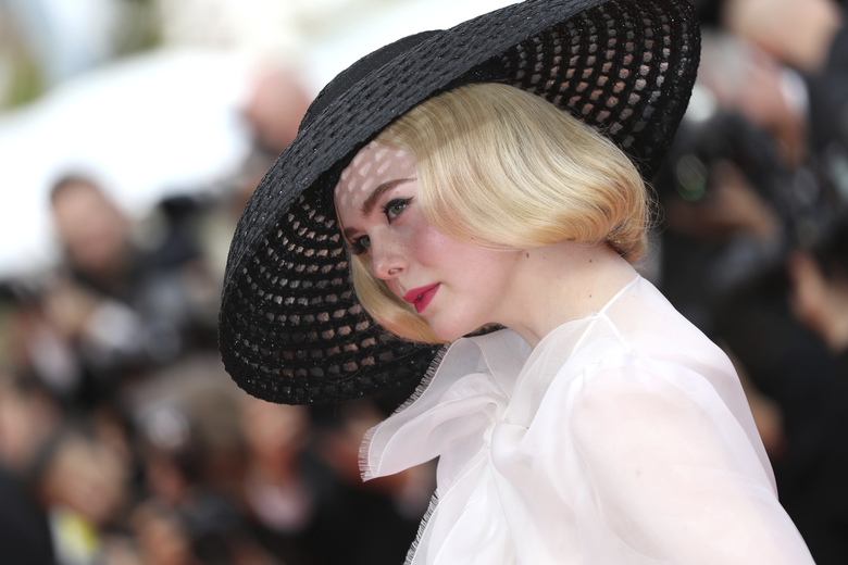 Jury member Elle Fanning poses for photographers upon arrival at the premiere of the film 'Once Upon a Time in Hollywood' at the 72nd international film festival, Cannes, southern France, Tuesday, May 21, 2019. (Photo by Vianney Le Caer/Invision/AP)