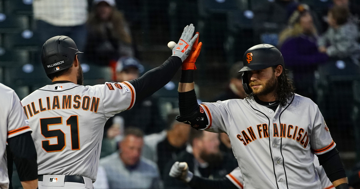 Williamson homers in return, Giants beat Rockies 14-4