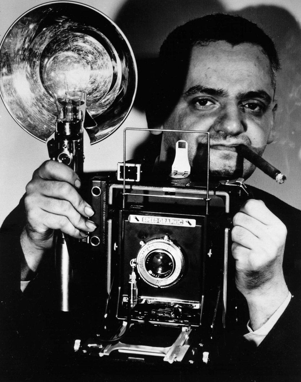 Weegee, whose crime photos are among the most famous in 20th century journalism. (Courtesy of International Center of Photography via KRT)