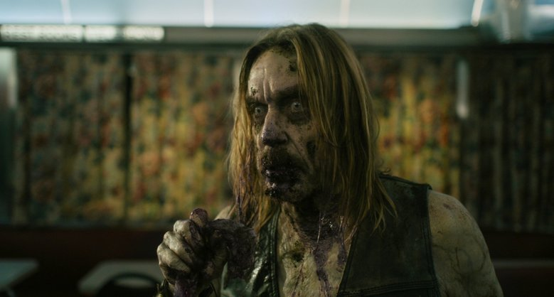 "Iggy Pop, as ""Male Coffee Zombie,"" in ""The Dead Don't Die."" (Frederick Elmes / Focus Features)"