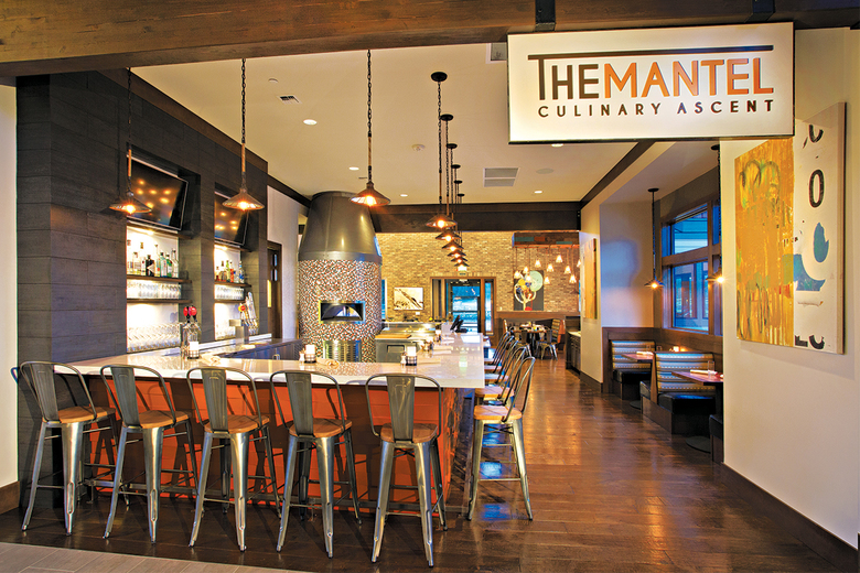 The Mantel Culinary Ascent has a wide selection of offerings, from healthy dishes to comfort food, as well as a variety of wines, craft beers and spirits.