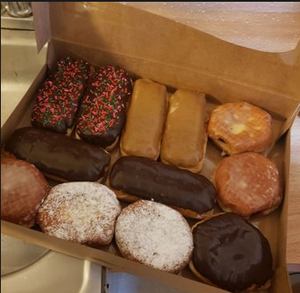 A peace offering brought to deputies at the King County Sheriff's Office in Fairwood last week by a man who broke in because he preferred jail to a murder charge. (Courtesy of the King County Sheriff's Office.)