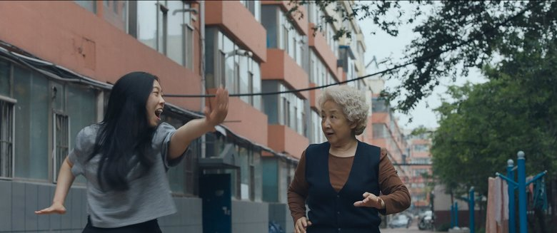 "Awkwafina and Zhao Shuzhen star in ""The Farewell.""  (Courtesy of / A24)"