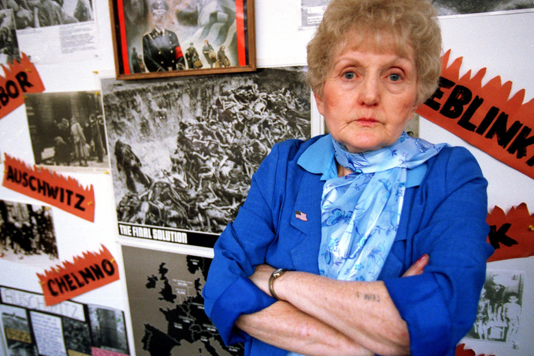 Holocaust survivor Eva Mozes Kor at the CANDLES Holocaust Museum in Terre Haute, Ind., 1999.  Kor, who championed forgiveness even for those who carried out the Holocaust atrocities, died Thursday morning, July 4,  in Krakow, Poland, during an annual museum trip. She was 85.