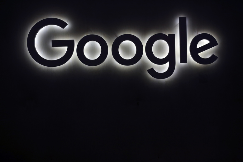 FILE – This Friday, June 16, 2017, file photo shows the Google logo at a gadgets show in Paris. As Google becomes a leading mail provider, search engine and advertising platform, federal regulators are starting to wonder if it needs to be knocked down a bit. (AP Photo/Thibault Camus, File)