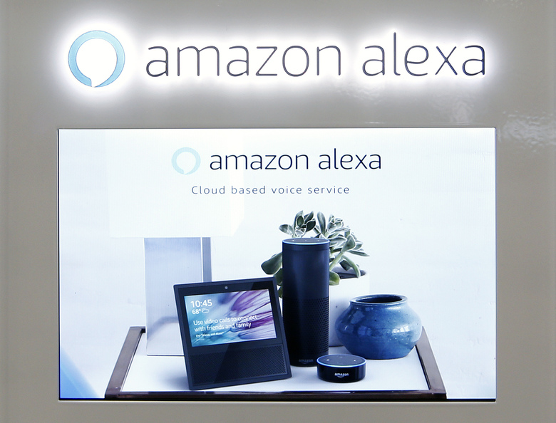 FILE – In this Monday, Aug. 7, 2017 file photo, an Amazon Alexa display is seen at a store in Hialeah, Fla. Britain's health agency is teaming up with Amazon's digital voice assistant to help answer medical queries with advice from the agency's official website. The British government said Wednesday, July 10, 2019 the service can help senior citizens, blind people and others who find it hard to access the internet. (AP Photo/Alan Diaz, file)