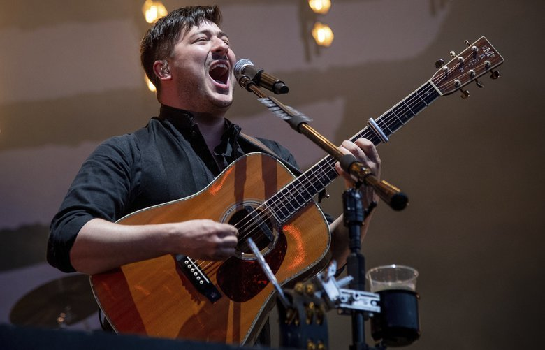 Marcus Mumford of Mumford & Sons performs at the BottleRock Napa Valley Music Festival at Napa Valley Expo on Sunday, May 26, 2019, in Napa, Calif. (Photo by Amy Harris/Invision/AP) CARJP109