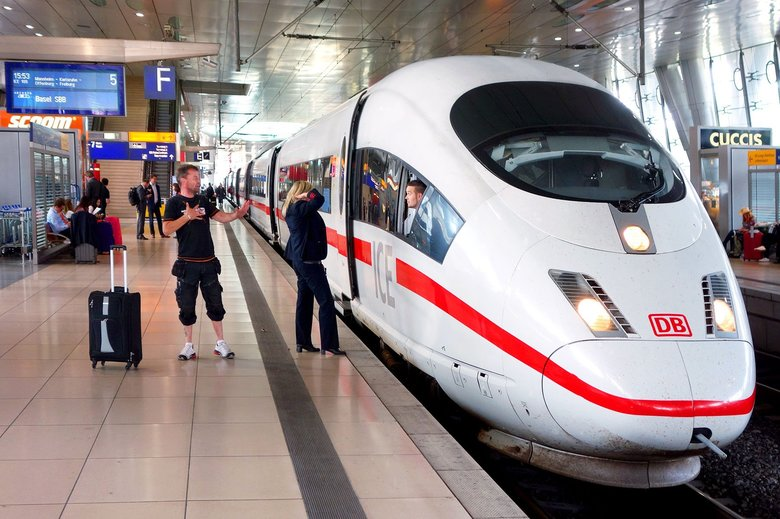 Travelers can hop on and off Germany's sleek InterCity Express trains easily with either a Eurail Global Pass or a German Rail Pass. (Rick Steves / Rick Steves' Europe)