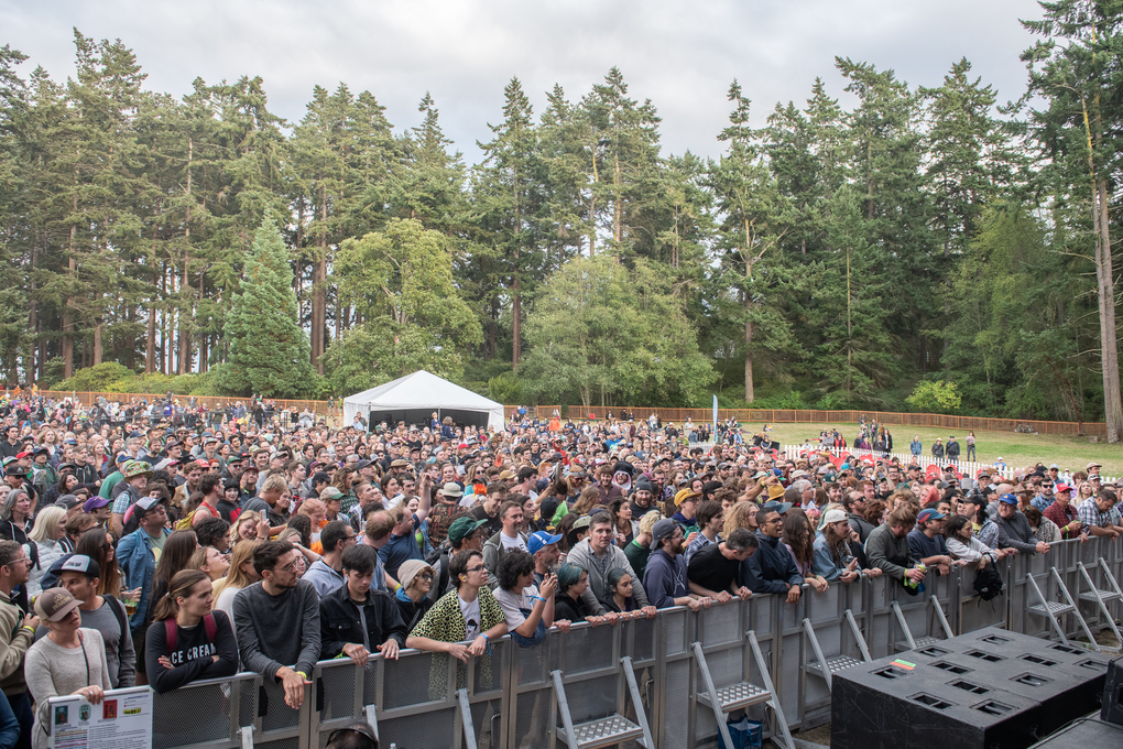 Fans pack the Littlefield Green stage during the inaugural THING festival at Port Townsend's Fort Worden Historical State Park. (Jim Bennett / THING)