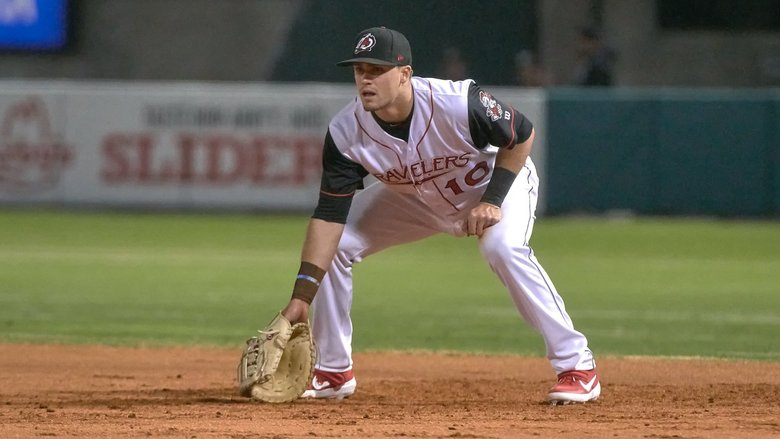 Mariners prospect Evan White. (Mark Wagner / Arkansas Travelers)