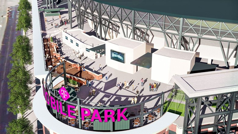 A rendering of the new rooftop boardwalk at T-Mobile Park.  (Mariners / )