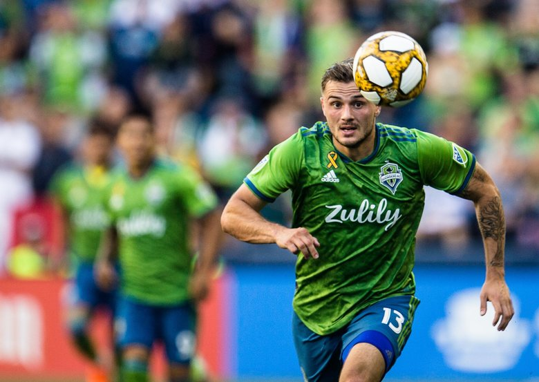 Jordan Morris is one of 10 Sounders who will miss Saturday's game due to national team call-ups. (Rebekah Welch / The Seattle Times)
